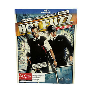 Hot Fuzz Blu-Ray DVD Region Free With Slip Cover Simon Pegg Nick Frost