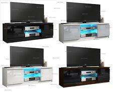 Modern TV Unit Cabinet Stand Sideboard Matt body and High Gloss Doors LED Light