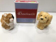 Anerican Girl Pet Lot Honey Golden Retriever Ginger Calico Cat Pet Carrier New