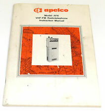 Rare Collectible Instruction Manual for the Apelco Af6 Marine Radio
