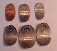 1982 ROCHESTER NUMISMATIC ASSOCIATION  ELONGATED 1C-$1.00 6 COIN SET