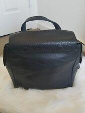 Pour La Victoire Black leather backpack bag gold embellishments w/ duster bagEUC
