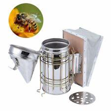 Bee Hive Smoker Small Galvanized w/ Heat Shield Board Beekeeping Equipment Tool