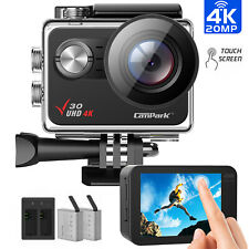 Campark V30 4K Action Camera 20MP WiFi Touch Screen Waterproof Sports Camcorder
