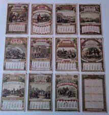 Lot of 12 - 1876 CENTENNIAL Home Insurance Co. Calendar Cards Revolutionary War