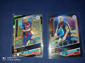 Topps Lionel Messi 2 cards 2016-17 TOPPS ATTAX 100 CLUB Bronze LE PSA 10 sgc NEW