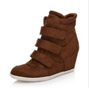 Women Platform Casual Shoes Hidden Wedge Ladies Sneakers Fashion High Heel Shoes