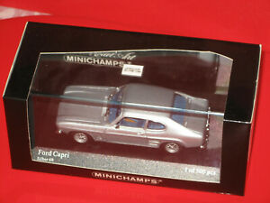 Ford Capri I 1969-73 silber , limitierte Auflage 500 Stück Minichamps 1:43