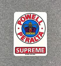 Powell Peralta Supreme Og Skateboard Sticker 3.5in