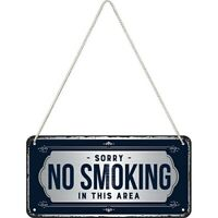No Smoking Bitte nicht Rauchen Blechschild Hängeschild 20 cm Metall
