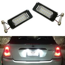 Direct Fit White LED License Plate Lights Lamps For MINI Cooper R56 R57 R58 R59