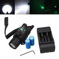 Grün/Rot Laser Sight mit LED Taschenlampe Schienenmontage Jagd Lampe Picatinny