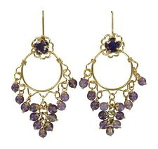 New lower price  4pc convertiblez, gold Jackets, Posts, Purple Chandelier Dangle