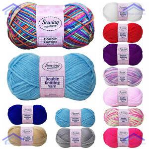 5 Pack x 100g New Knitting Wool Yarn Soft Double Polyester Crochet 7 Colour AVL