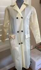 Vintage Prestige Clear White Frosted Vinyl Raincoat 60's Scarf In Case Sz 12/14