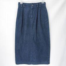 "LizSport 6 Liz Claiborne Blue Denim Long Skirt Pleated 26"" Waist"