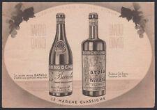 tarjeta postal publicidad BALLE VINOS CLASSICI DE PIEMONTE