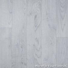 Light Grey Wood Style Vinyl Flooring Kitchen Bathroom R10 2.3mm Lino 2m 3m 4m