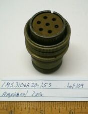 1 Ms3106a20 15s Military Plug Connector Amphenol Lot 109 Made In Usa