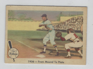 1959 Fleer Ted Williams #7 1936-FROM Mound A Piastra Bello Scheda