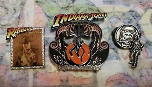 Disney Pins Indiana Jones Temple Of The Forbidden Eye Set Of 3 Raiders Lost Ark