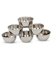 Stainless Steel Bowl 6 Pcs Gift Set 10cm for serving various liquid food dishes