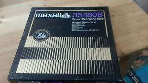 """MAXELL UD 35-180B HI-OUTPUT/EXTENDED RANGE SOUND RECORDING TAPE 10"""" METAL REEL"""