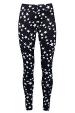 Thermo Leggings Winter Fell-Leggings Blickdicht Leggins Treggings Sterne 36-40