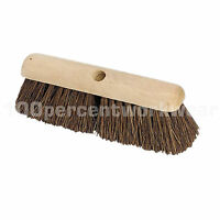 "Wooden Hard Bristle Bassine Brush Broom Head Floor Cleaning Sweeping 12"" to 36"""
