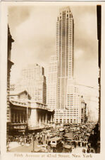 1934 post card, Fifth Avenue at 42nd Street,  NY,