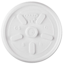 Dart Plastic Lids, for 8 oz. Vented, No Straw Slot 1000 Lids/Cn (Dcc8Jl)