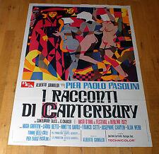I RACCONTI DI CANTERBURY manifesto poster Hugh Griffith Franco Citti Pasolini