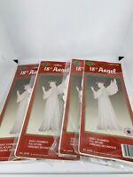"Vintage Beistle 1988 18"" Angel Hanging Christmas Decor Lot Of 4"