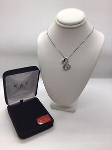 """Open Hearts Jane Seymour Sterling Diamond Necklace 18"""""""