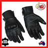 Mens Breathable Summer Leather Motorcycle Motorbike Gloves Cool New Black Biker