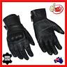 Motorcycle Motorbike Gloves Mens Breathable Summer Leather Cool New Black Biker