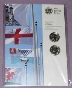 2010 UK Cities £1 London and Belfast in original Royal Mint package Sealed