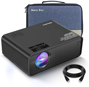 ManyBox Mini Projector Portable Video Projector with 45000 Hrs LED Lamp Life ...