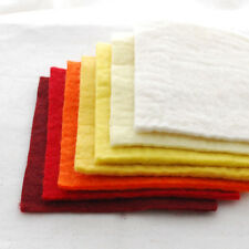 "Handmade 100% Wool Felt Fabric - 5mm Thick - 15cm / 6"" Square Sheets Bundle"
