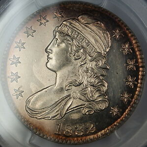 1832 Bust Silver Half Dollar *PROOF LIKE* PCGS UNC Details (Light Cleaning)
