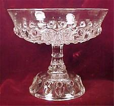 Antique Torpedo Open Compote Thompson Glass Early American Pressed Glass 1889