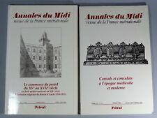 ANNALES DU MIDI Revue de la France Méridionale Tomes 107 & 110
