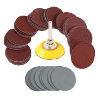 100x 50mm Roloc Sanding Discs Pads Polishing Pad Sander 80-3000 Grit Sandpaper 2