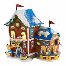 Dept 56 North Pole Fisher-Price Pull Toy Factory Lit Building NEW 4050962 D56