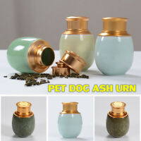 Pet Ash Urns Ceremic Funeral Cremation For Dog Cat Small Memorial Holder Pot