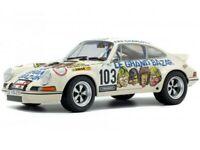 Solido 1:18 1973 Porsche 911 RSR Le Grand Bazar #103 Cream S1801106 Diecast Car