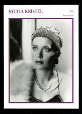 Sylvia kristel Star Portrait mapa - 80er años top + G 21396