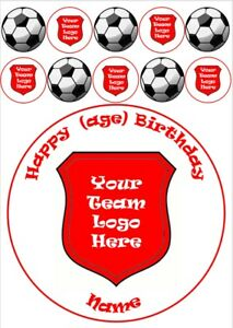 """Liverpool football cake topper circle round 7.5"""" wafer or icing sheets edible"""