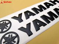 "8"" Black 3D Fuel Gas Tank Fairing Body Emblem Decal Badges for Yamaha 20cm New"