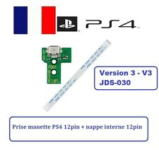 Connecteur de charge usb manette PS4 12pin + nappe interne 12pin DOCK V3 JDS-030